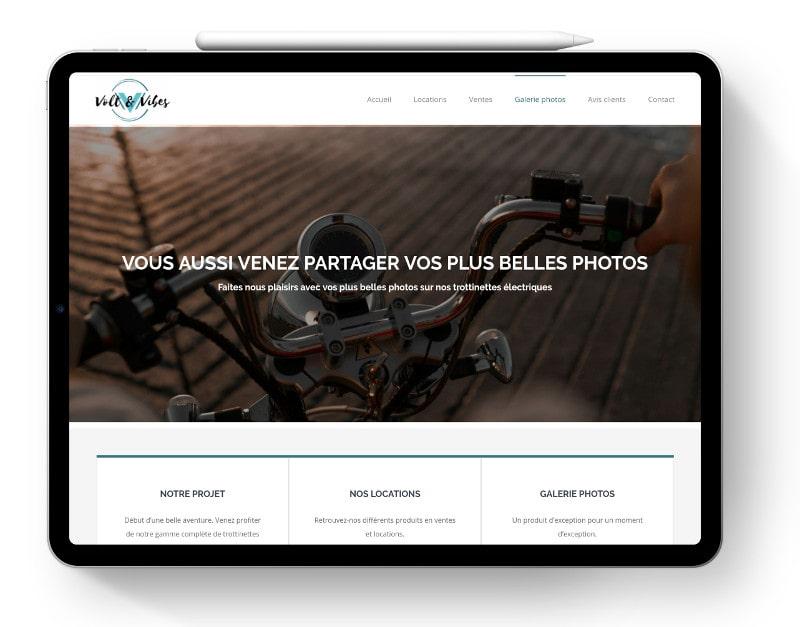 Site internet responsive Volt&Vibes